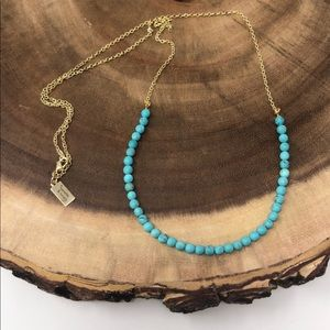 Turquoise Howlite 14k Gold plated Boho Necklace